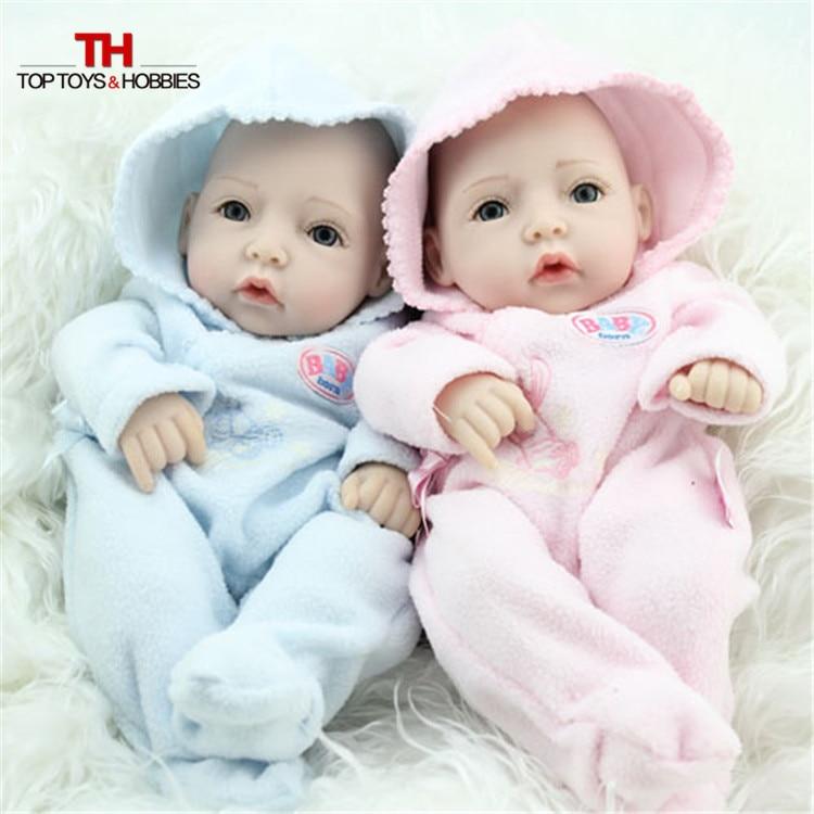 28CM Fake Baby Dolls Reborn Babies Boy/Girl Full Silicone Realistic Doll for Children Toys Birthday Gift
