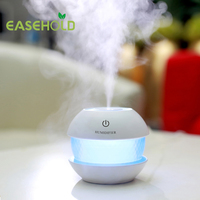 Easehold 150ml Round Magic Crystal Shape Usb Mini Air Humidifier Aroma Essential Diffuser LED Lights Mist
