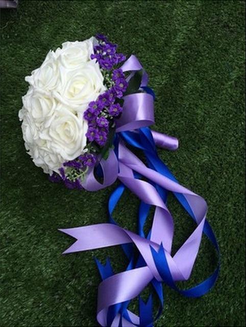 Artificial Wedding Flowers Bridal Bouquets Crystal Silk Bridesmaids Holding Flowers Wedding Accessories Buque De Noiva