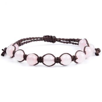 Bracelet Corde Quartz Rose