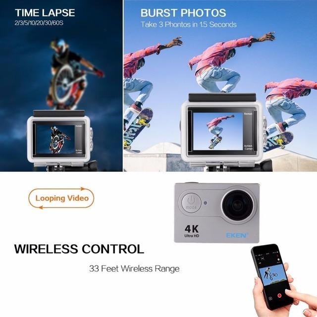 Original EKEN H9 H9R Ultra HD 4K 25fps Action Camera 30m waterproof 2-inch LCD Screen Wi-Fi Remote Gopro Style Sports Camera 4