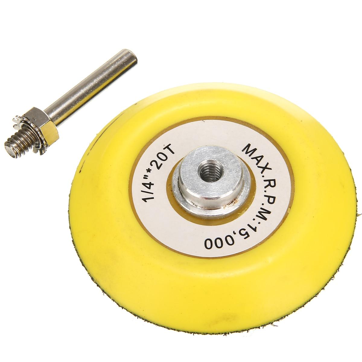 75mm Sander Disc Sanding Buffing Polish Backing Pad Hook & Loop 3