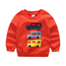 Boys Sweatshirt Cotton Long Sleeved Sweater Clothes Car Pattern Child Outwear Coat Children  Autumn Casual Toddler Boys Tops
