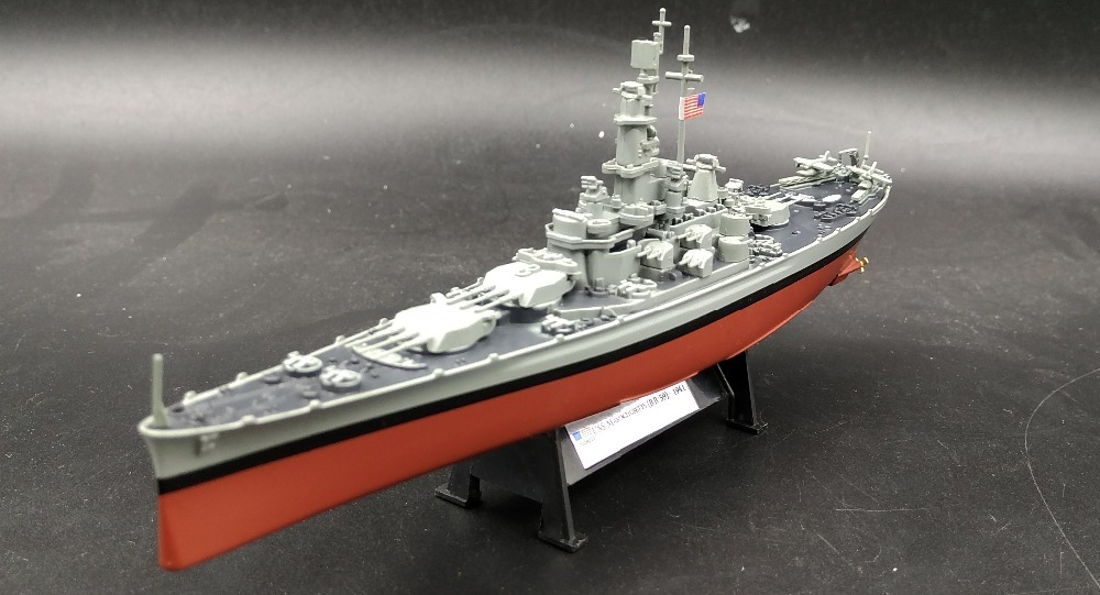 Amer 1:1000 World War II United States BB-59 Massachusetts battleship Alloy warship model Collection model Holiday gift стоимость
