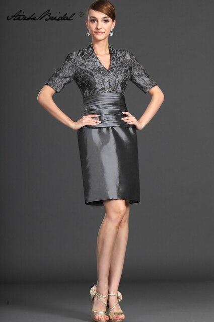 formal mujer vestido corto de la madre del novio vestidos vintage v