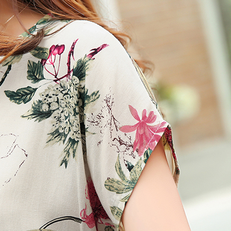 29b61a643c4 gkfnmt Women Blouses Floral Print Tops ladies Shirts Summer Casual Big Size  Blouse Shirt Fashion Korean 2017 New Blusas Female-in Blouses   Shirts from  ...