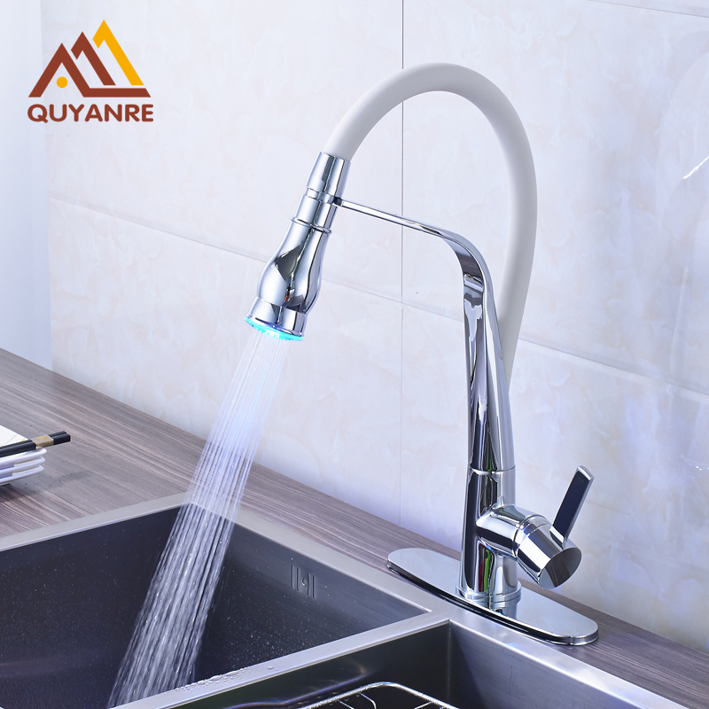 Bright Chrome RGB Light Changing Kitchen Water Tap 360 Dgree Rotation Hot And Cold Mixer Faucet зубило rennsteig re 4210000 зубила 125мм 150мм пробойники 3мм 4мм кернер 4мм в наборе 6шт