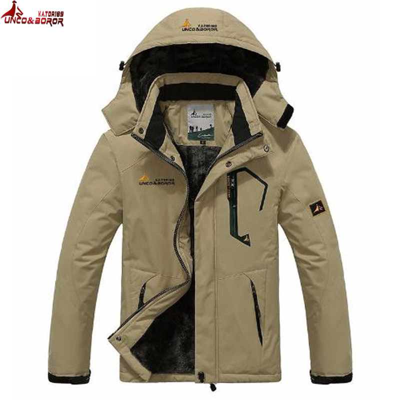 KING FOX Top Quality 4XL Size Waterproof Windproof Sport Outdoor Jacket Professional Warm Fleece Winter Jacket