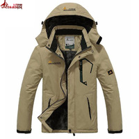 KING FOX Top Quality 4XL Size Waterproof Windproof Sport Outdoor Jacket Professional Warm Fleece Winter Jacket