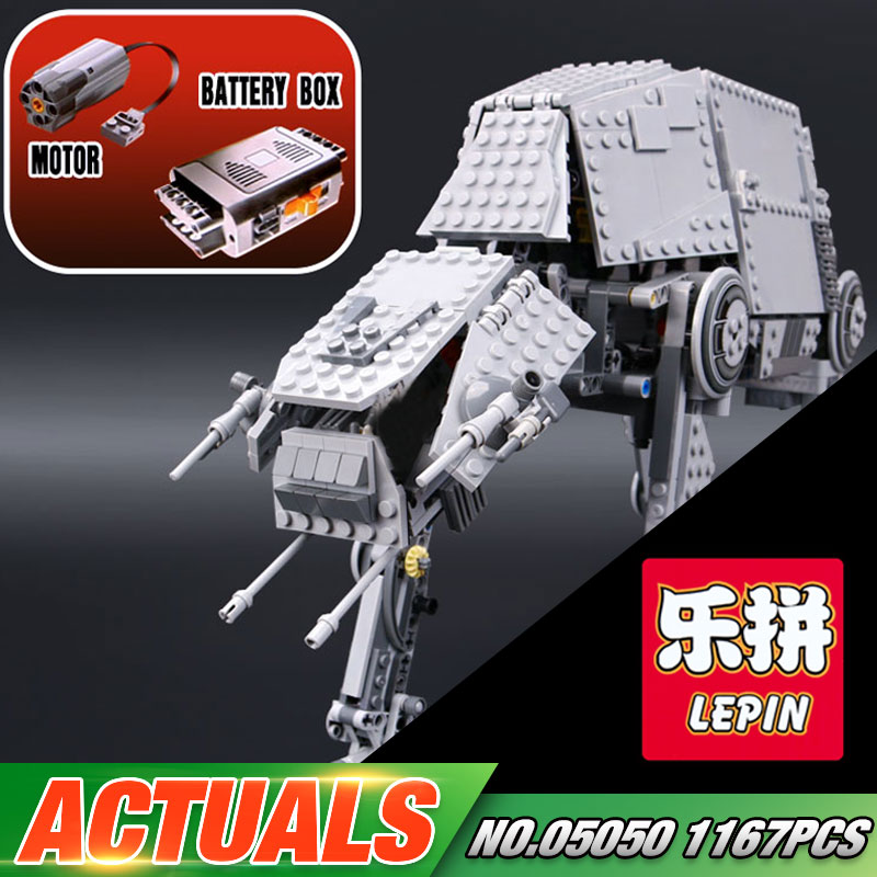 NEW LEPIN 05050 Star Series War 1167pcs AT Model AT the robot Model Building blocks Bricks Classic Compatible 75054 Boys Gift rollercoasters the war of the worlds