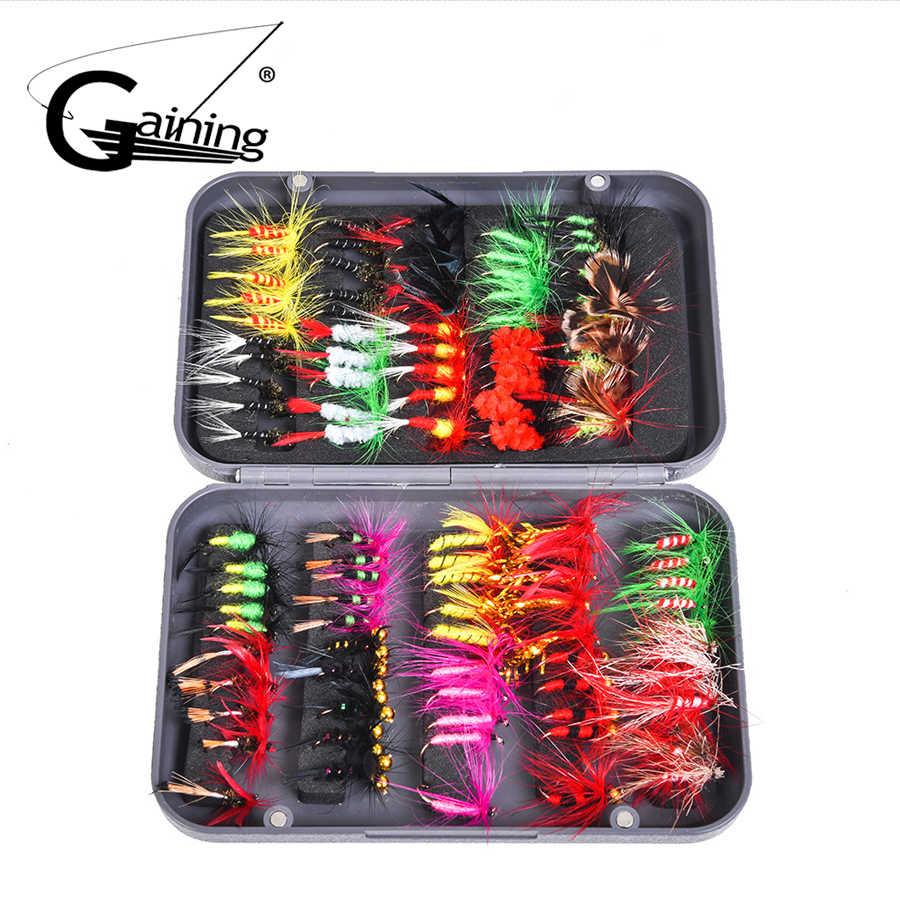 Kit de moscas de pesca con mosca 100 piezas 20 colores señuelos de pesca con mosca cebo de pesca