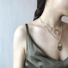 2019 New Boho Jewelry Multi Layer Beads Choker Necklaces for Women Sexy Moon Fashion Pendant Vintage Collier choker Necklace цены