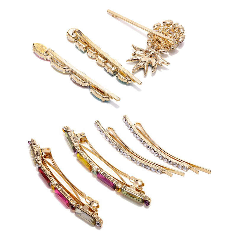Za fruit pineapple hair clip women girls bobby pins crystal barrettes wedding bridal jewelry japanese fashion accessories T34