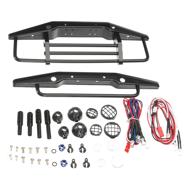 Us 28 45 5 Off Rc Car Front And Rear Bumpers Four Wheeler Toys Racing Crash Bumper Steel Accessories Remote Control Car Kit Scx10 1 10 In Parts