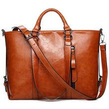 2015 New Fashion Genuine Leather bags Tote Women Leather Handbags Women Messemger Bags Shoulder Bags Hot Vintage bags popular
