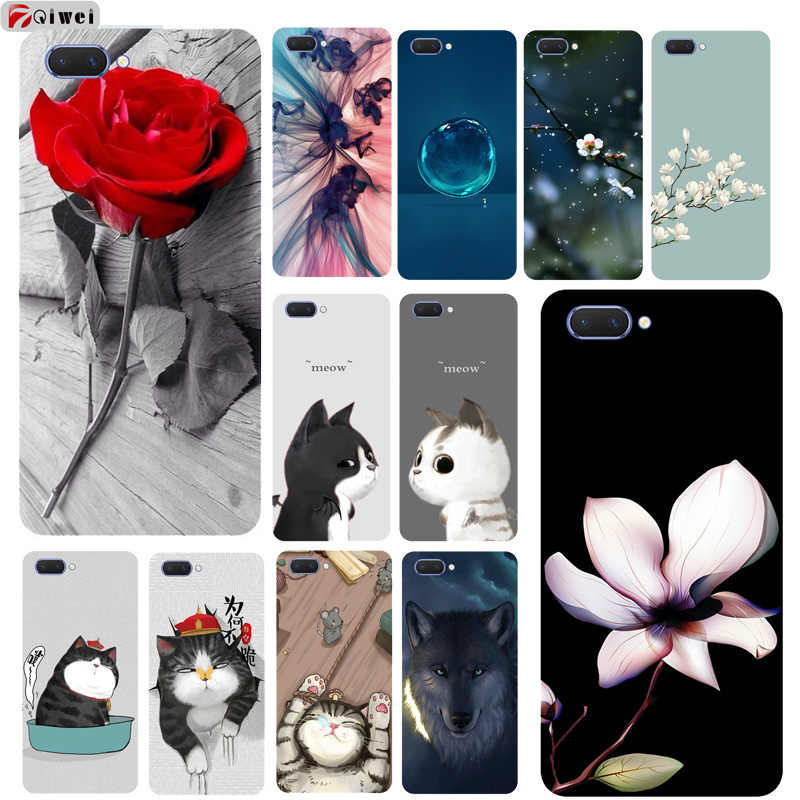 timeless design 2d921 0e8a5 For Coque Oppo A3S Case Silicone Soft TPU Back Cover For Oppo A3S A 3S A3 S  Case For Oppo A5 OPPOA5 Case Cartoon Fundas Cat Capa