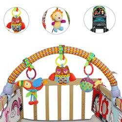 Детская прогулочная коляска, подвесное сиденье и коляска, игрушки, лесное животное, летающая птица, мультяшная Мобильная Погремушка кукла м...