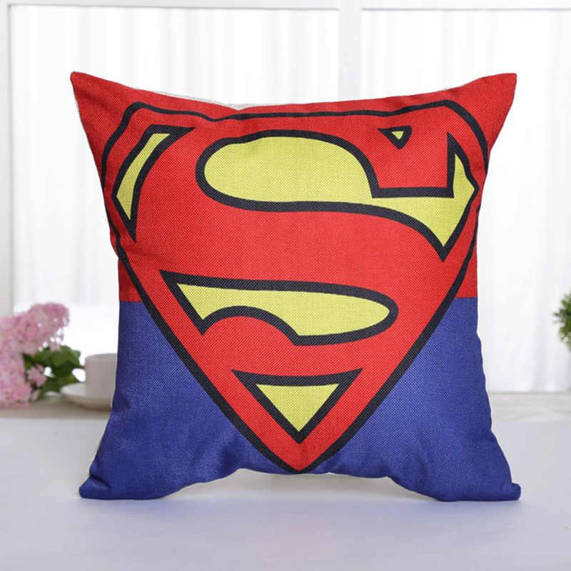 1 PC 45*45 Cm Bantal Mencakup Marvel Seri Superhero Superman Batman Amerika Captain's Katun Bantal Cover Bantal