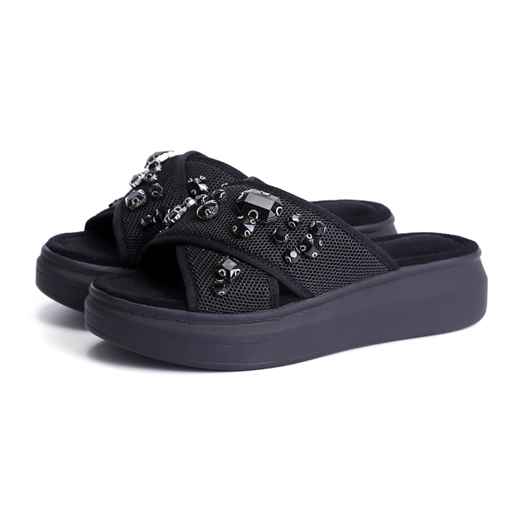 ASUMER big size 33 43 fashion summer new arrival shoes woman comfortable  flat platform mules shoes women slippers black gray-in Slippers from Shoes  on ... d8646d1c9f35