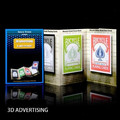Free shipping 2 sets/lot 3D Advertising/Deck From Paper - Magic Tricks,Card Magic,Close Up,Stage,Accessories