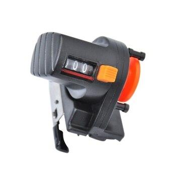 1pcs Black 0 999M 6cm pesca fishing line depth finder counter fishing tool tackle length gauge counter|Fishing Tools| |  -