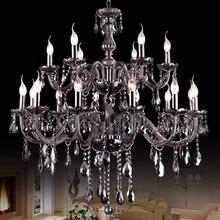 De luxe Lustres En Cristal Éclairage Moderne LED Lustres Colorés Suspendus Lumière lustres de sala de cristal De Mariage Décoration