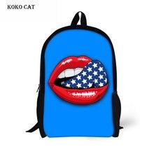 Уникальный 3D преувеличенный рот печати девушки Shoolbag дети BookBags Kawaii детский сад рюкзак Повседневная сумка Mochila Infantil