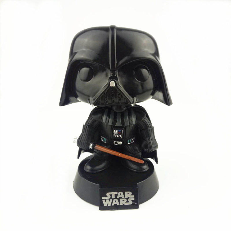 NEW  10cm star war Darth Vader action figure Bobble Head Q Edition new box for Car Decoration new 1pc darth vader 10cm baby kids childs action figure toy loose xmas