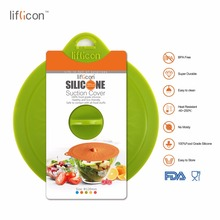 Liflicon 4.72(120mm) Silicone Suction Cup Lids Anti-dust Glass for Pots Coffee Mug Seal Lid Cap Cooking Pot Cover