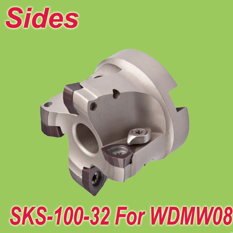 Free Shiping SKS 100-32-5T  Inserted Shoulder Cutter Facemill 100mm for For Dijet WDMW080520