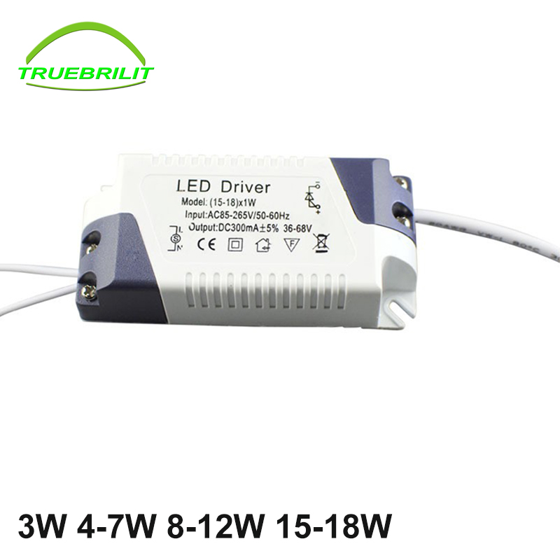 constant current led driver for panel downlights 3w 4 7w 8 12w 15 18w adapter transformerpower. Black Bedroom Furniture Sets. Home Design Ideas