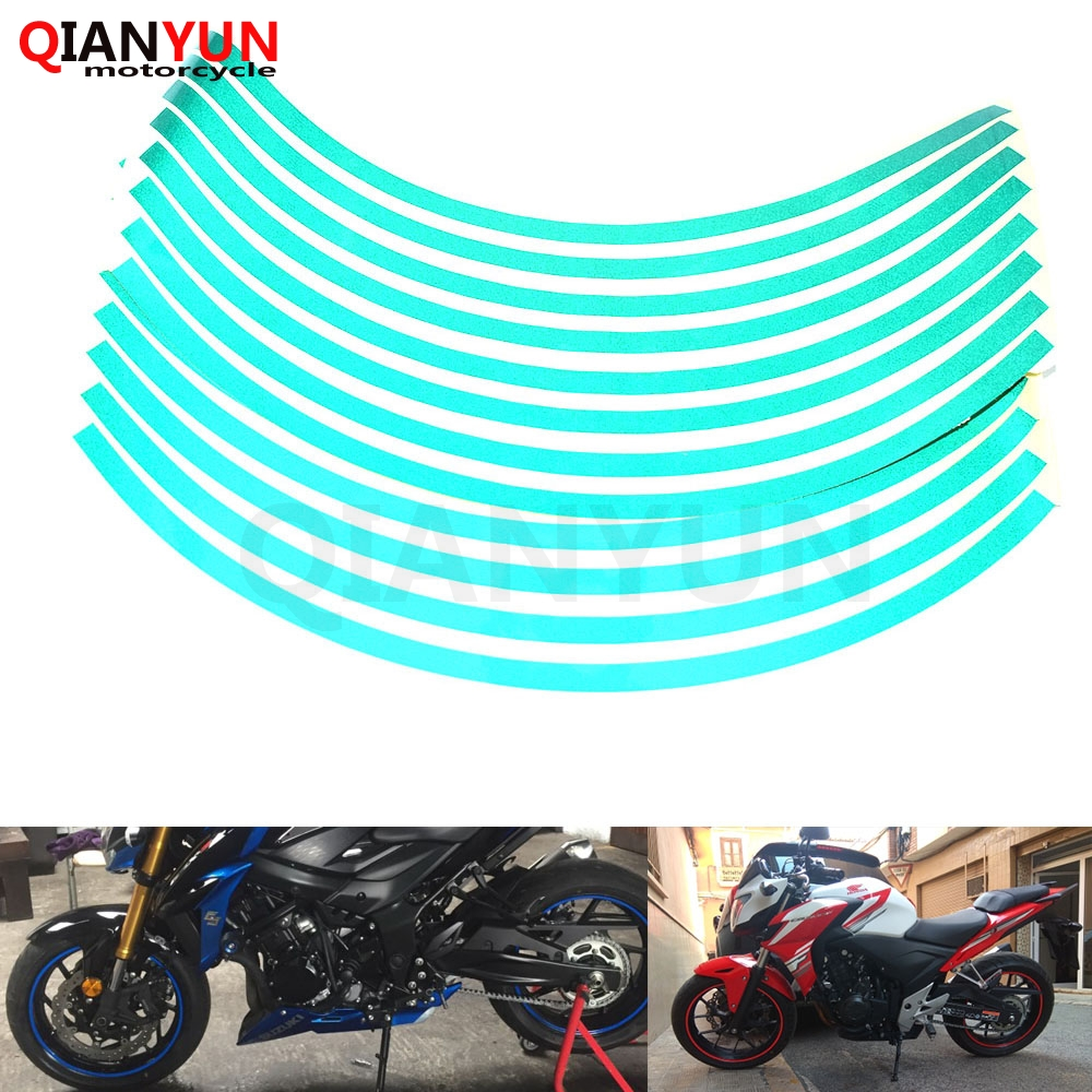 Motorcycle Styling Wheel Hub Tire Reflective <font><b>Sticker</b></font> Car Decorative Stripe <font><b>Decal</b></font> For <font><b>Suzuki</b></font> GSXR 1000 600 <font><b>750</b></font> GSR <font><b>750</b></font> 600 DL650 image