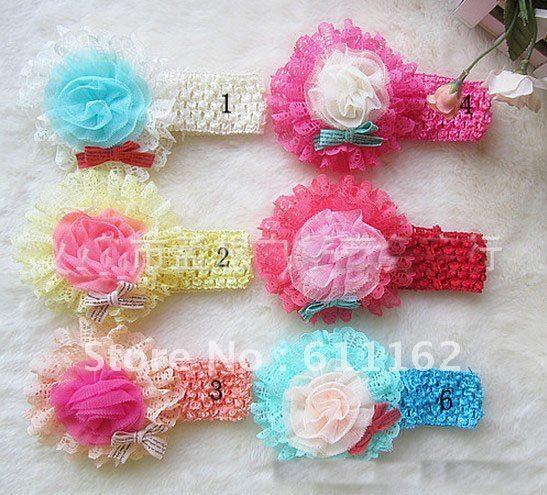 Корейские популярные женские Украшения, элегантные шифоновые цветы, полая заколка, аксессуары для волос, поводок для волос