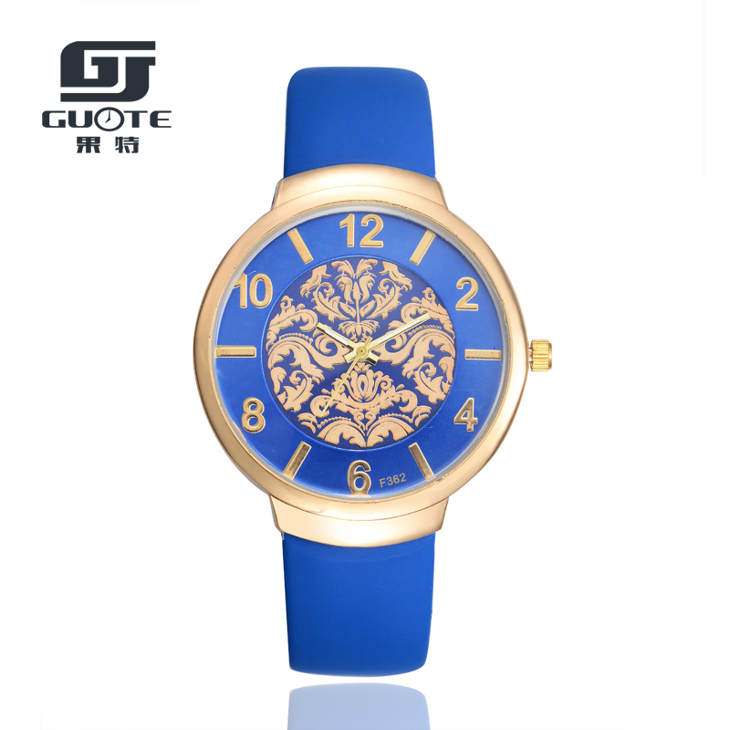 GUOTE Quartz Watches Women Hour Ladies Simple Casual Leather Strap Wristwatch Girl Clock Female Relogio Erkek Saat Reloj Mujer