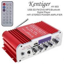 Kentiger DC12V/AC220V/AC110V 2CH Bluetooth Hi-Fi автомобильный усилитель звука fm-радио плеер Поддержка SD USB DVD для автомобиля дома