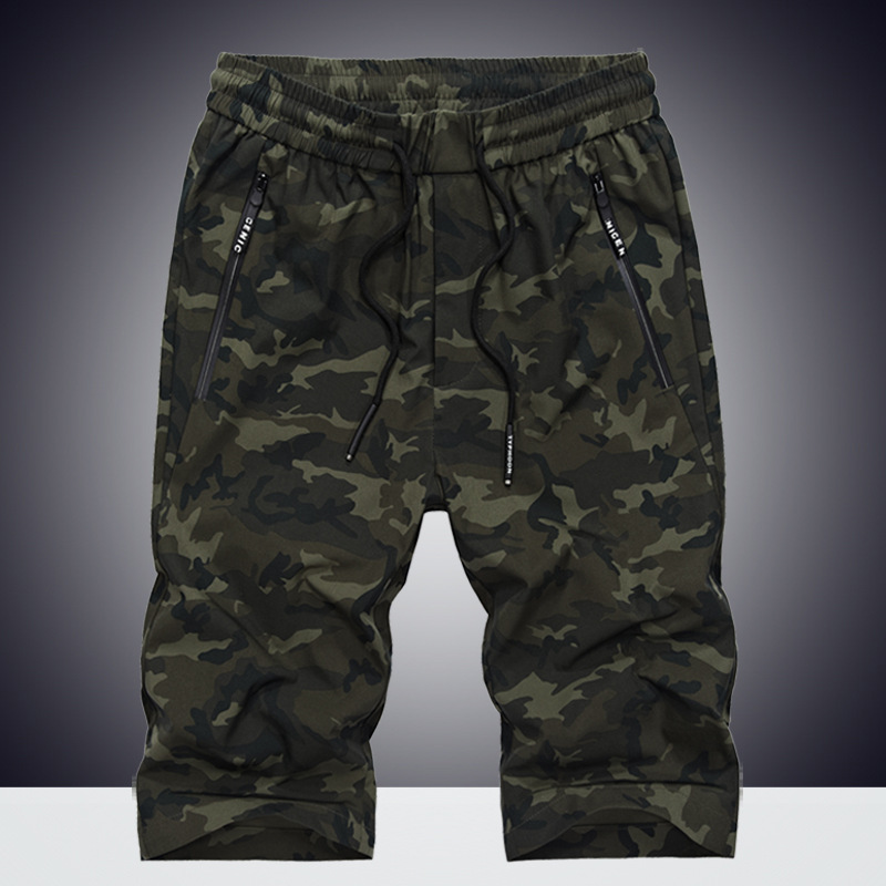 IN-YESON Brand Sweatpants Men Camouflage Short homme Summer Knee Length Camo Jogger Mens Shorts Elastic Casual Beach Shorts