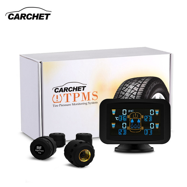 CARCHET Tyre Pressure Monitoring Intelligent System TPMS Set External Sensors LCD Sucker Display Car Detector FREE SHIPPING
