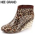 Hee grand tobillo del alto talón de cuña de las mujeres botas de lluvia de la moda femenina botas de lluvia impermeables botas de mujer zapatos de agua de goma xwx1346