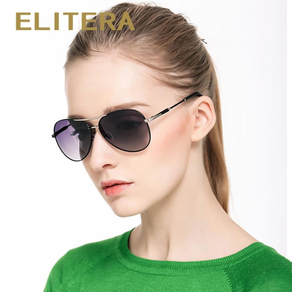 ELITERA Unisex– ის პილოტი მამაკაცები / ქალები HD პოლარიზებული სარკე UV400 მზის სათვალეები სათვალე სათვალეები მამაკაცისათვის oculos de sol