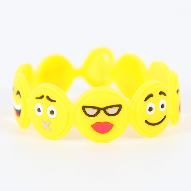 6pcs Lot Emoji Bangle Bracelet Kids Birthday Party Favors Decoration Wedding Gifts For Guests Baby Shower Supplies