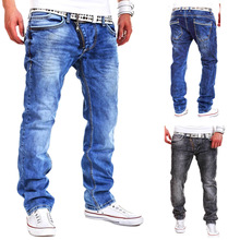High Quality 2017 CosMaMa Brand mens fancy latest design rockstar wide leg urban with zipper biker jeans pants