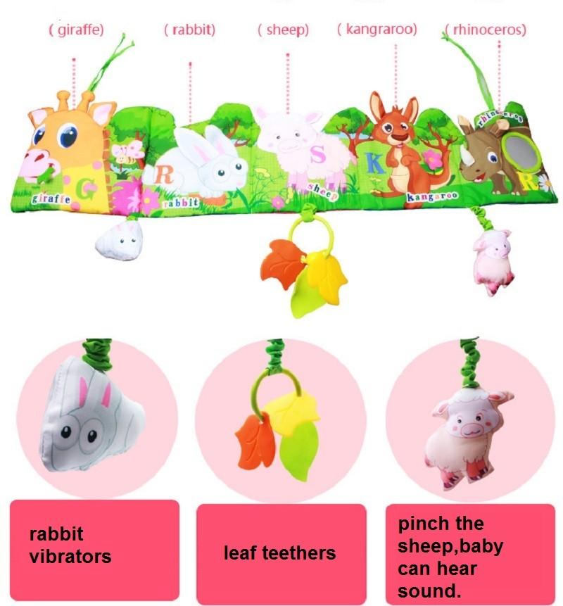 Infant Activity Book Cartoon Animal Soft Baby Educational Toy Cloth Book Plush Animal Story Intelligence Developing Toy KF030 5