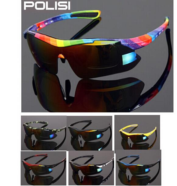 POLISI outdoor sport riding eyewear polarized male Women bicycle sunglasses ride goggles with frame cycling glasses