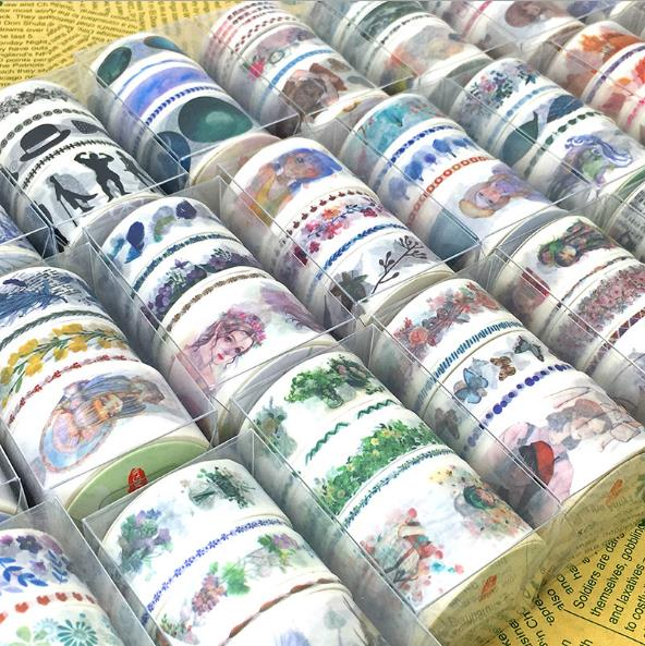 5Rolls/Lot Chinese classical style Flowers/Girls Pattern Japanese Washi Decorative Adhesive DIY Masking Paper Tape Sticker Label 1roll 35mmx7m high quality coffee shop buildingr pattern japanese washi decorative adhesive tape diy masking paper tape sticker