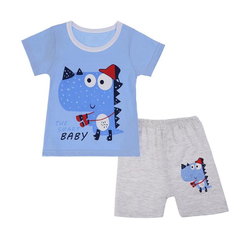 От 3 до 6 лет одежда для маленьких мальчиков 2018 лето мультфильм печатных детские шорты костюмы Повседневная хлопковая одежда для детей компл...