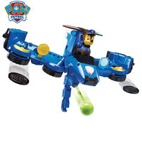 Paw Patrol skey Flip Fly Aircraft toys Set 2 in 1 Blue Yellow Pink Red Vehicle Transforming Toys Action Figure Best Gift