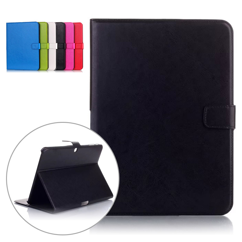 Oil Wax Pattern Case for Samsung Galaxy Tab 4 10.1 T530 Tablet Solid PU Leather Flip Case for Samsung Galaxy Tab 4 10.1 T530