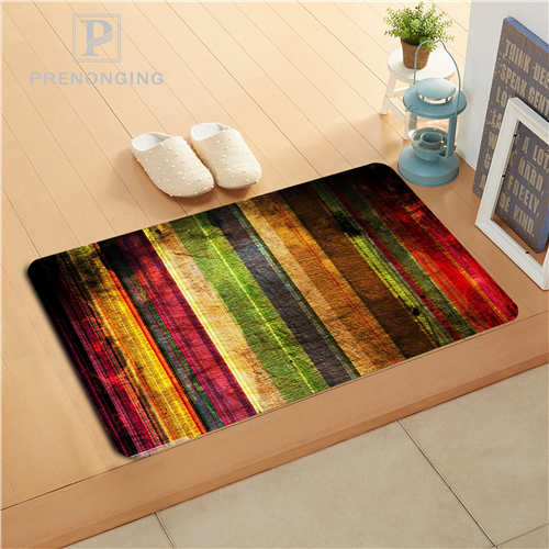 Custom Wood Flower Doormat Print slip-resistant Mats Floor Bedroom Living Room Rugs 40x60cm 50x80cm Free Shipping 171120-20