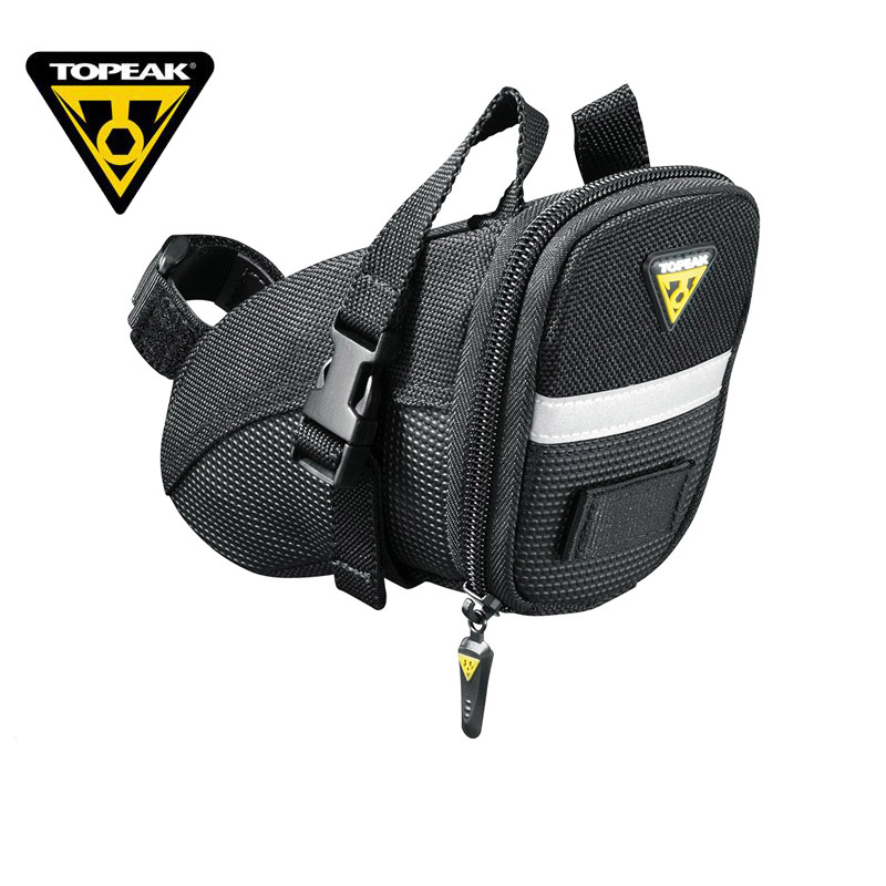 TOPEAK Aero Wedge Bicycle Seat Bag Saddle Pack Waterproof Bike Tail Rear Bag With 3M Reflective Strip Expand Volume Bicycle Bag topeak dynawedge bike seatpost bag strap mount saddle bicycle rear bag ultralight bike repair tools pannier bag tc2293b