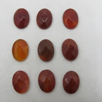 Wholesale Natural Red Agat e Carnelian15x20mm Facted Oval Gem stone Jewelry Cabochon 20pcs/lot